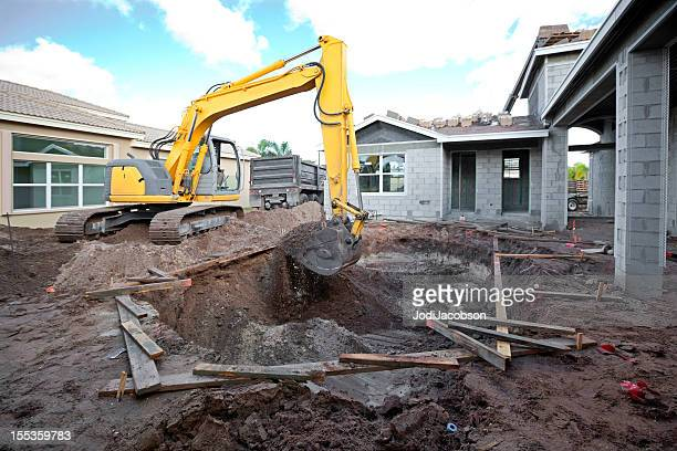 Concrete block stock photos and pictures getty images - Cinder block swimming pool construction ...