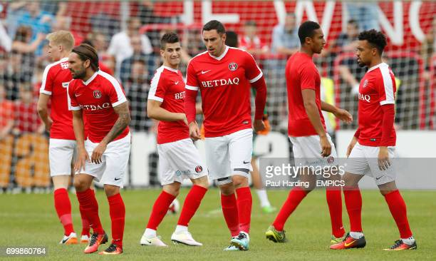 New Charlton Athletic signings Ricky Holmes Lee Novak and Nicky Ajose
