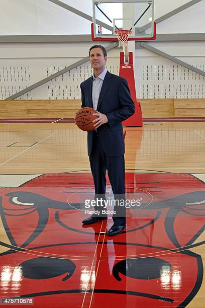 New Chicago Bulls Head Coach Fred Hoiberg poses for picture following a press conference on June 2 2015 at the Advocate Center in Chicago Illinois...