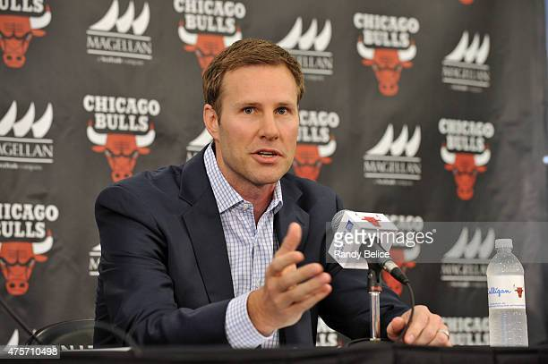 New Chicago Bulls Head Coach Fred Hoiberg speaks during a press conference on June 2 2015 at the Advocate Center in Chicago Illinois NOTE TO USER...