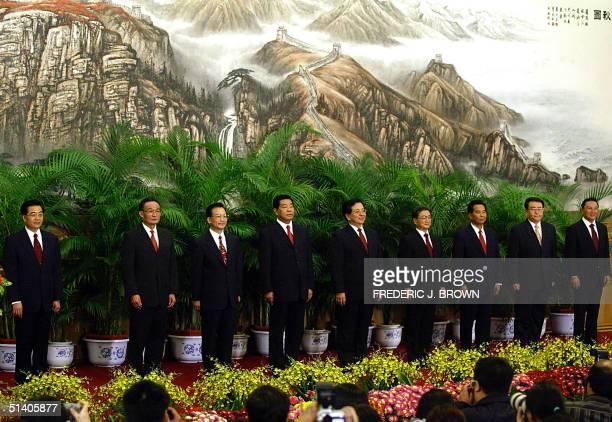 New China's top leaders in order of importance are Hu Jintao Wu Bangguo Wen Jiabao Jia Qinglin Zeng Qinghong Huang Ju Wu Guanzheng Li Changchun and...