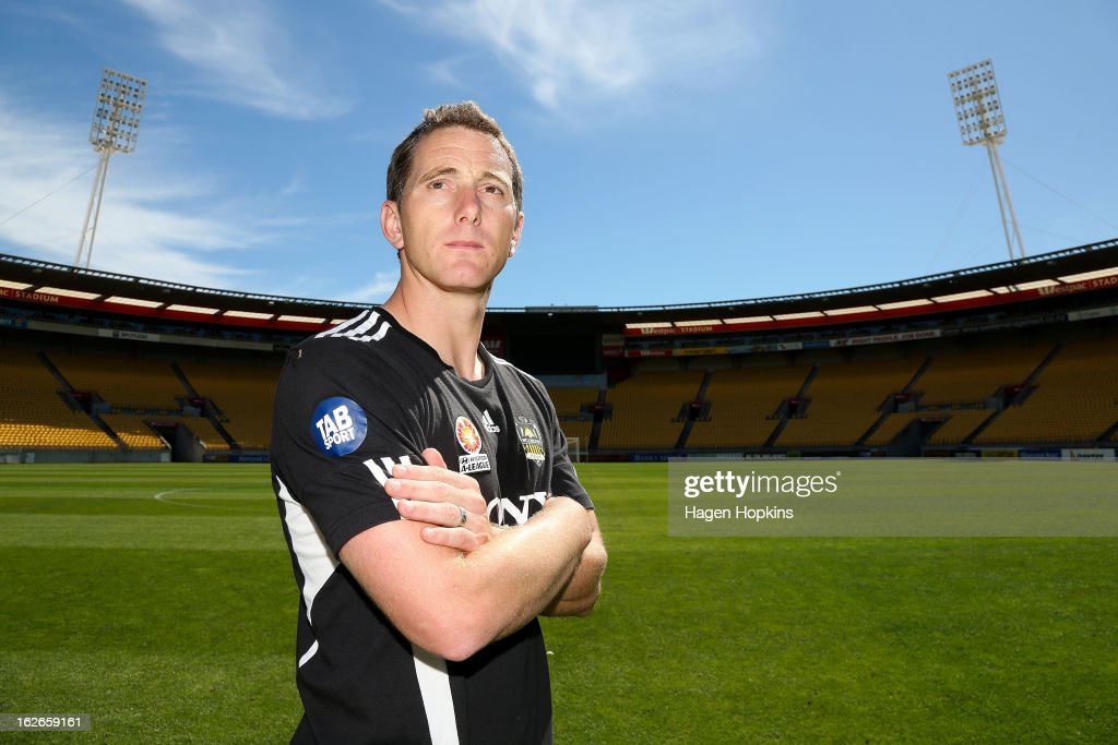 New coach Chris Greenacre poses during a Wellington Phoenix A-League media session at Westpac Stadium on February 26, 2013 in Wellington, New Zealand.