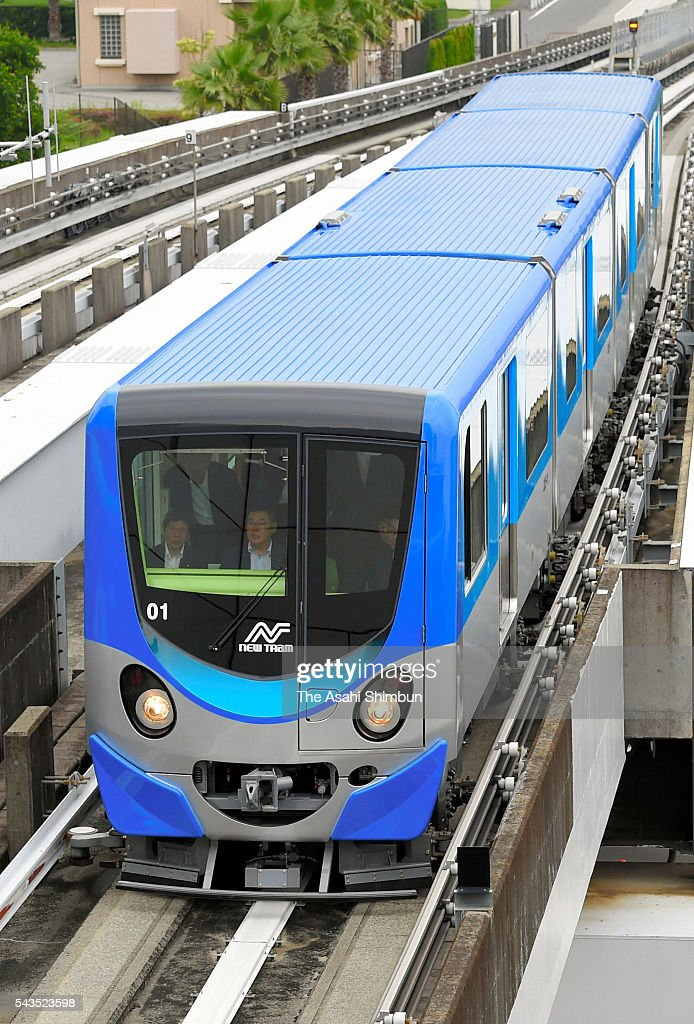 A new coach of the New Trum runs on June 29, 2016 in Osaka, Japan. Osaka City Transport luanches new coach today.