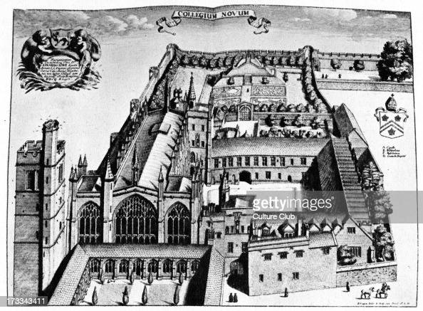 New College by David Loggan from 'Oxonia Illustrata' 1675