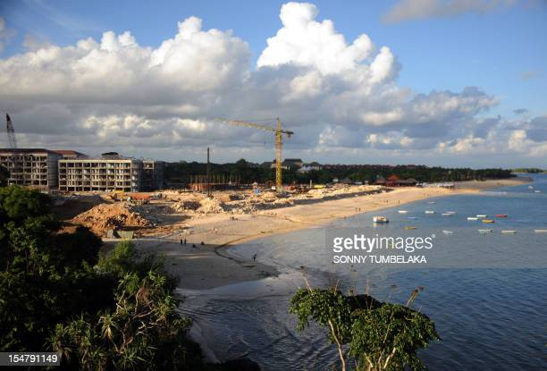 A new construction buiding for a new hotel is seen near a beach in Nusa Dua on the Indonesian island of Bali on February 6 2012 Indonesia said its...