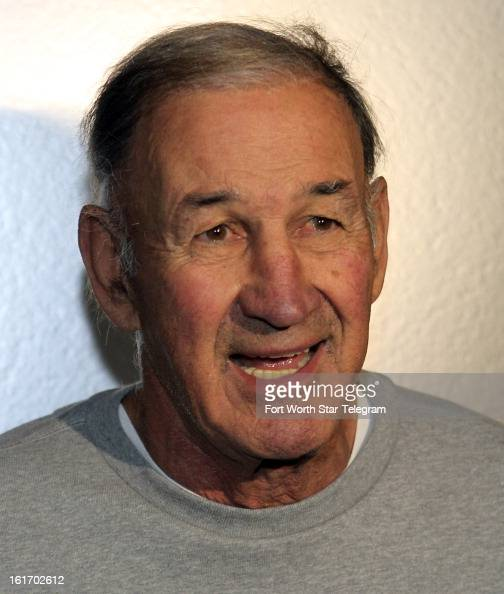 New Dallas Cowboys defensive coordinator Monte Kiffin talks with the media during an introductory interview session of coaching staff members...