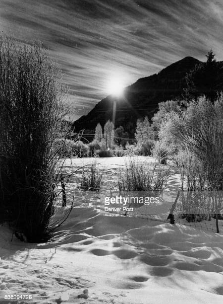 New Day Comes Up Beautiful Sunrise on the 4UR Ranch about nine miles south of Creede is something to behold but it can be a little brisk this time of...