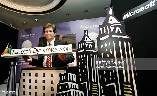 Chief Operating Officer Microsoft India Doug Hauger poses for photographers during the launch of Microsoft Dynamics AX 40 in New Delhi 07 February...