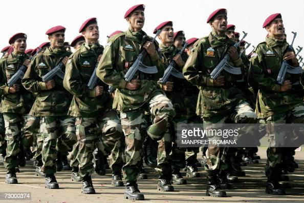 Indian Para-Commandos March Past During Pictures