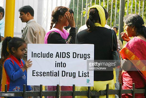 Indian people living with HIV/AIDS from around the country protest at the start of a threeday demonstration to demand that the government of India...