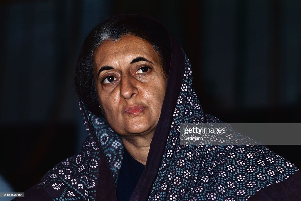 New Delhi India ORIGINAL CAPTION READS Prime Minister Indira Gandhi has assumed virtually absolute power in India 6/27/1975 by jailing hundreds of...