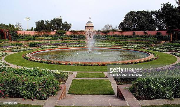 Picture of The Mughal Garden at Rashtrapati Bhawan in New Delhi 07 February 2007 The Mughal and Herbal gardens of the Presidential Palace will be...