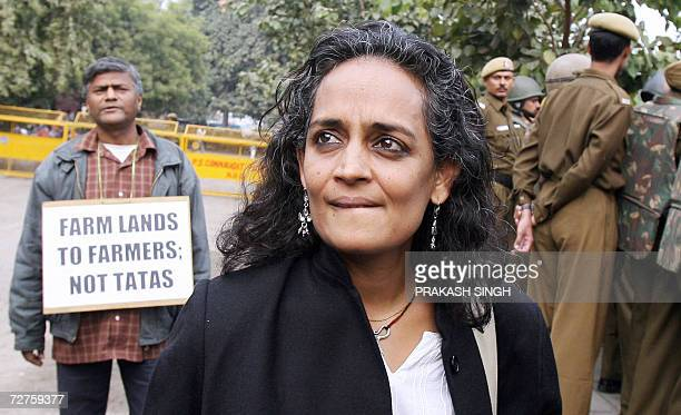 Renowned Indian writer and social activist Arundhati Roy along with activists of the National Alliance of People's Movement and various organisations...