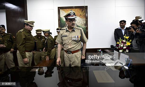 New Delhi Police Commissioner Alok Kumar Verma takes over as Commissioner of Police Delhi at PHQ on February 29 2016 in New Delhi India Senior IPS...