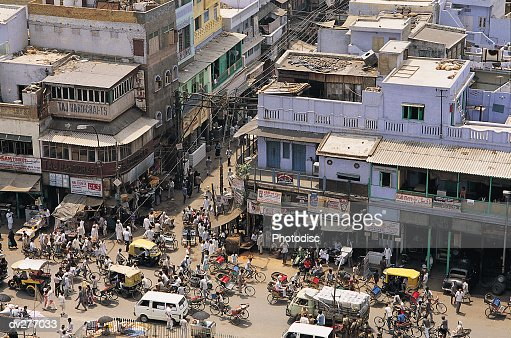 New Delhi street corner : Stock Photo