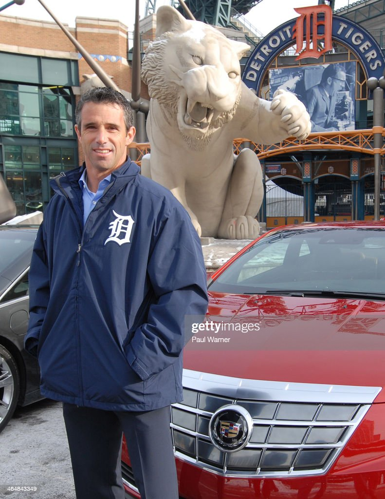 New Detroit Tigers manager <a gi-track='captionPersonalityLinkClicked' href=/galleries/search?phrase=Brad+Ausmus&family=editorial&specificpeople=209430 ng-click='$event.stopPropagation()'>Brad Ausmus</a> attends the Detroit Tigers winter caravan at Comerica Park on January 24, 2014 in Detroit, Michigan.