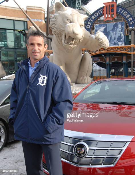 New Detroit Tigers manager Brad Ausmus attends the Detroit Tigers winter caravan at Comerica Park on January 24 2014 in Detroit Michigan