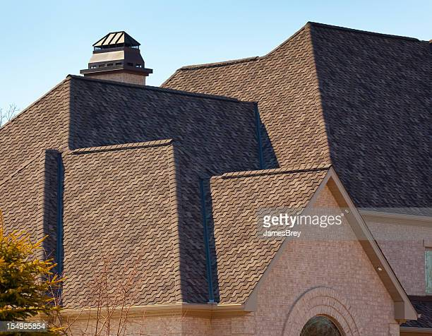 New Dimensional Asphalt Shingle Complex Roof on Mansion