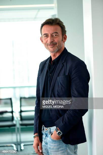 New director of French public radio station France Musique Marc Voinchet poses on September 4 2015 at La Maison de la radio the headquarters of the...