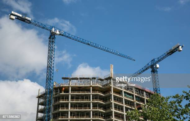 New downtown condominiums and office space is under construction along 5th and 6th Streets on April 14 in Austin Texas Austin the State Capital of...