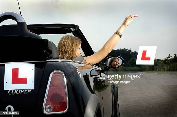 A New Driver Passes her Driving Test Artist Unknown
