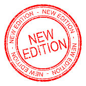 red new edition rubber stamp - illustration