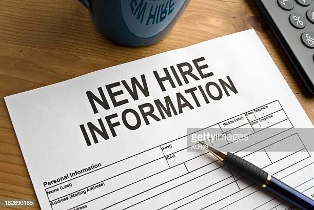 Formular für neue Mitarbeiter