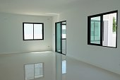New empty room in modern house