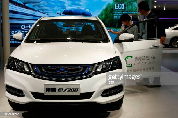 EV 300 new energy car is displayed during the first day of the 17th Shanghai International Automobile Industry Exhibition in Shanghai on April 19...