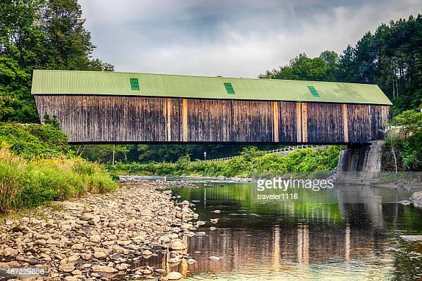 New England Covered Bridge - Lincoln Bridge In Vermont