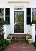A New England doorway entrance