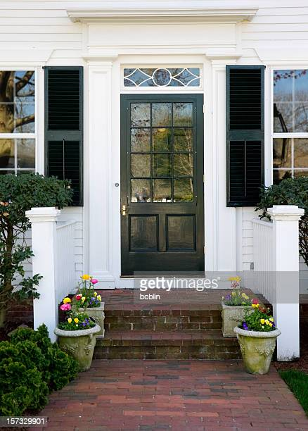 A New England doorway entrance