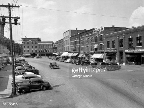 New England main street : Stock Photo
