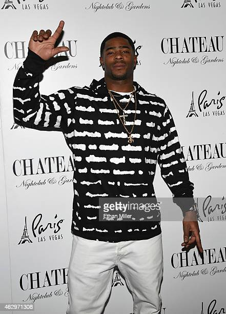 New England Patriots cornerback Malcolm Butler attends a championship party at the Chateau Nightclub Rooftop at the Paris Las Vegas on February 8...