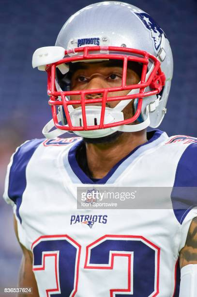 New England Patriots defensive back William Likely warms up before the NFL preseason game between the New England Patriots and the Houston Texans on...