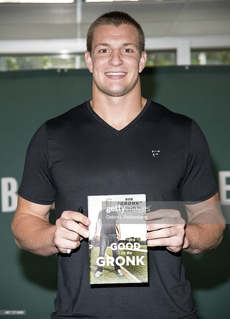 "New England Patriots Star Rob Gronkowski Signs Copies Of His New Book ""It's Good To Be Gronk"""