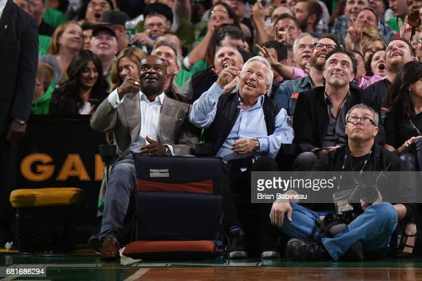 New England Patriots owner Robert Kraft and NFL Players' Association Director DeMaurice Smith attend Game Five of the Eastern Conference Semifinals...