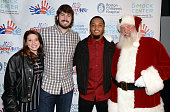 New England Patriots Patrick attends Patrick Chung's Open Mic Holiday Party along with Santa teammate Danny Aiken and Kelly Pierson benefiting Boston...