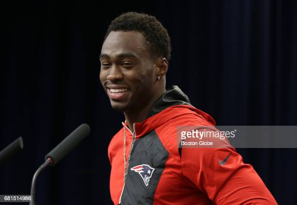 New England Patriots player Brandin Cooks meets with the media at Gillette Stadium in Foxborough MA on May 9 2017