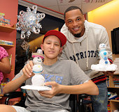 New England Patriots player Patrick Chung visits Collin at Children's Hospital Boston on December 6 2011 in Boston Massachusetts