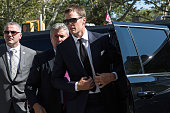 New England Patriots' quarterback Tom Brady arrives at federal court to appeal the National Football League's decision to suspend him for four games...