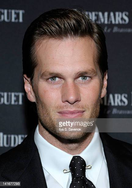 New England Patriots' quarterback Tom Brady attends Royal Oak 40 Years From AvantGarde to Icon at Park Avenue Armory on March 21 2012 in New York City