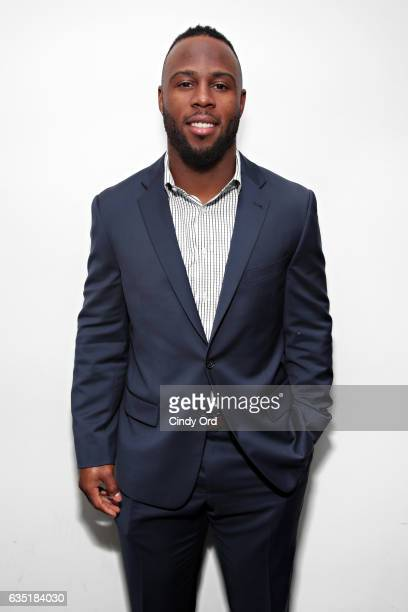 New England Patriots running back James White visits the SiriusXM Studio on February 13 2017 in New York City