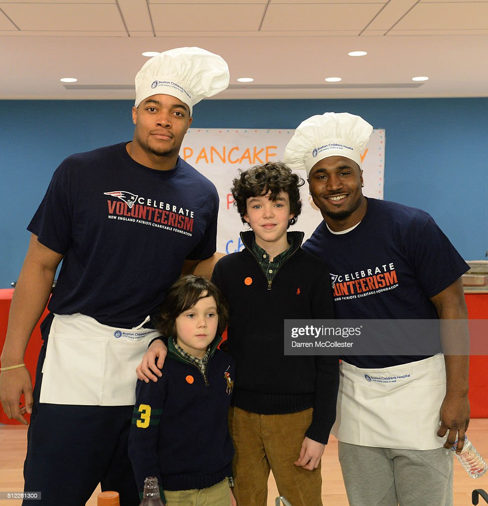 New England Patriots Celebrate National Pancake Day At Boston