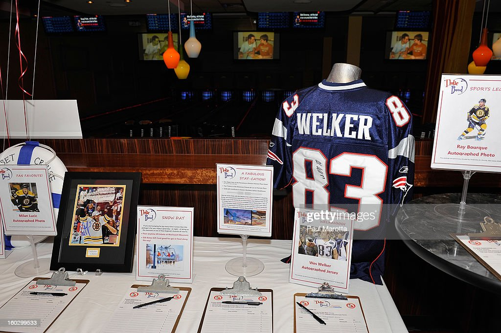New England Patriots Wide Receiver Wes Welker Autographed Jersey to be auctioned to raise money for the10th Annual Flutie Bowl to strike out autism at KINGS on January 28, 2013 in Boston, Massachusetts.