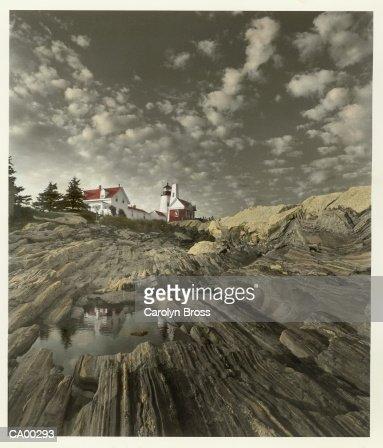 USA, New England, Pemaquid point lighthouse : Stock Photo