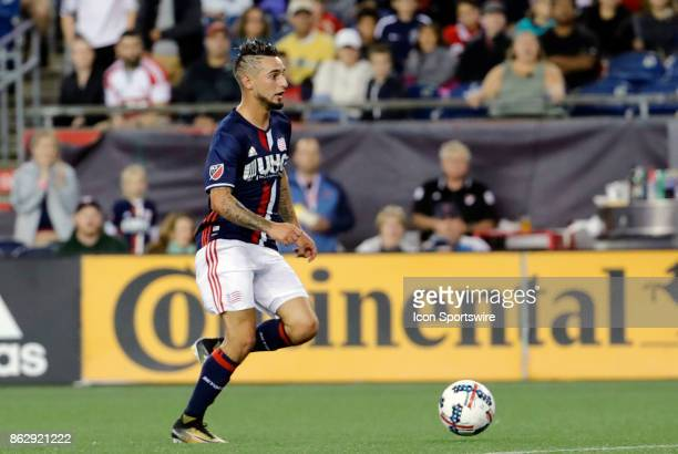 New England Revolution midfielder Diego Fagundez breaks in alone during a match between the New England Revolution and New York City FC on October 15...