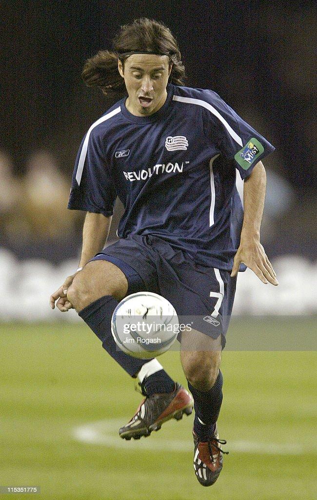 New England Revolution's Jose Carlos Cancela Duran controls the ball against the San Jose Earthquakes