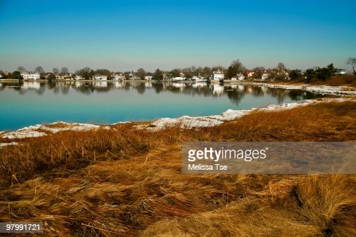 New England scenery with snow in the winter