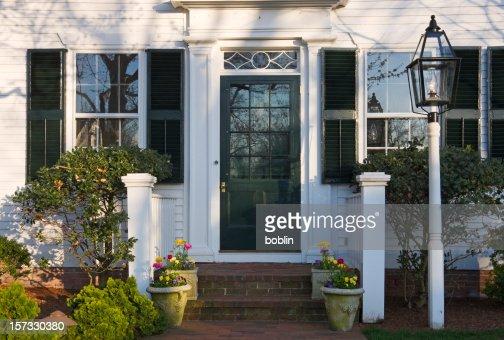 New England Spring Doorway